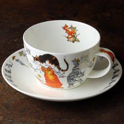 Breakfast Cup and Saucer | Pussy Galore