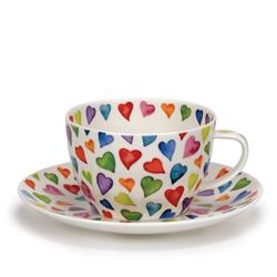 Breakfast Cup and Saucer | Warm Hearts