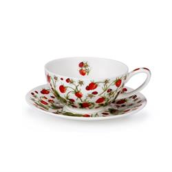 Tea for One Cup & Saucer | Dovedale Strawberry